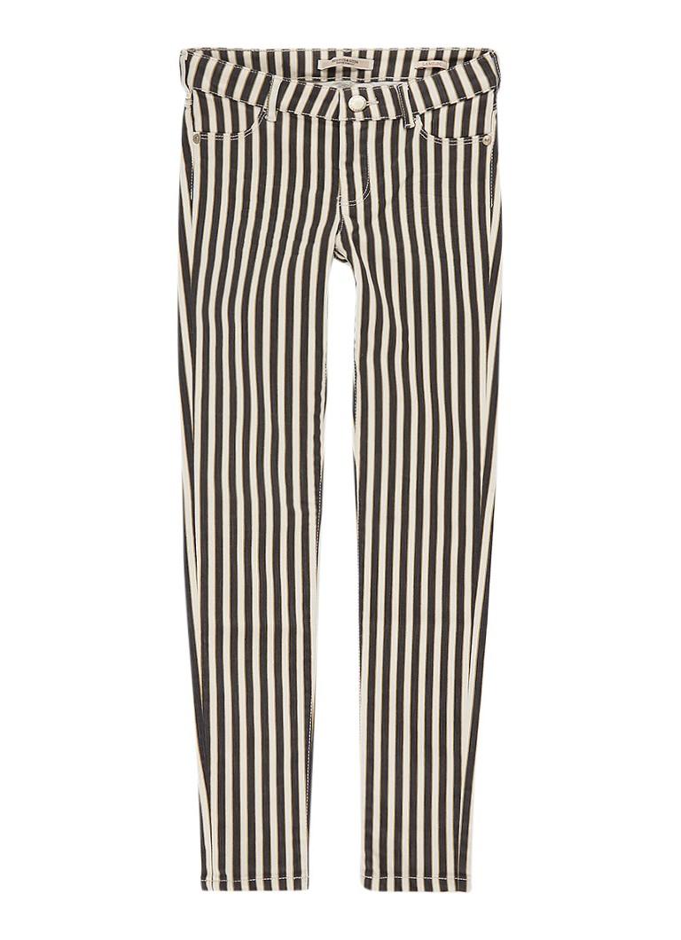 Scotch R'Belle Super skinny fit jeans met streepdessin