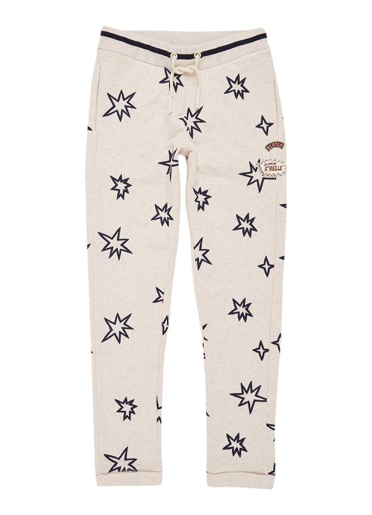 Scotch R'Belle Sweatpants met geborduurde sterren