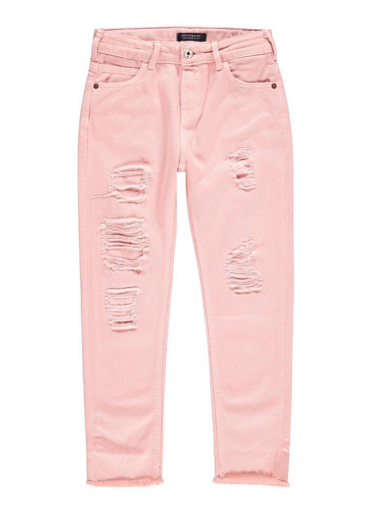 Scotch R'Belle Petit Ami boyfriend fit jeans met destroyed details