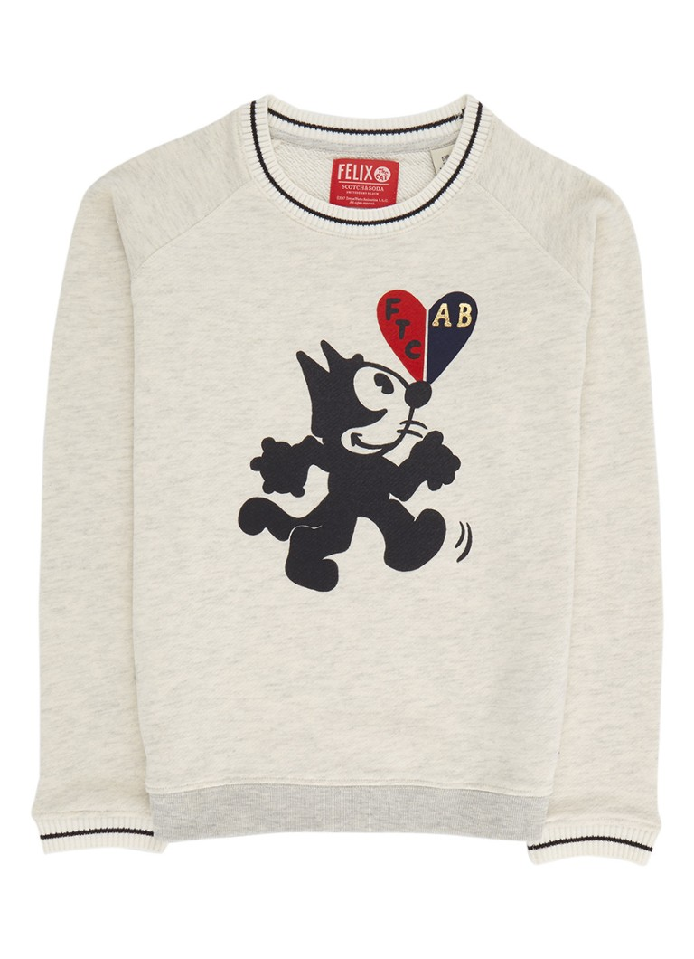 Scotch R'Belle Felix gemêleerde sweater met print