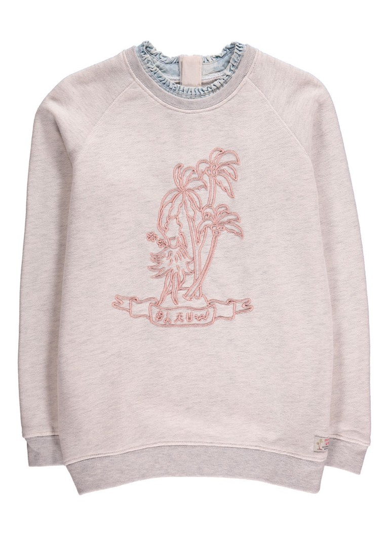 Scotch R'Belle Sweater met borduring en ruche details