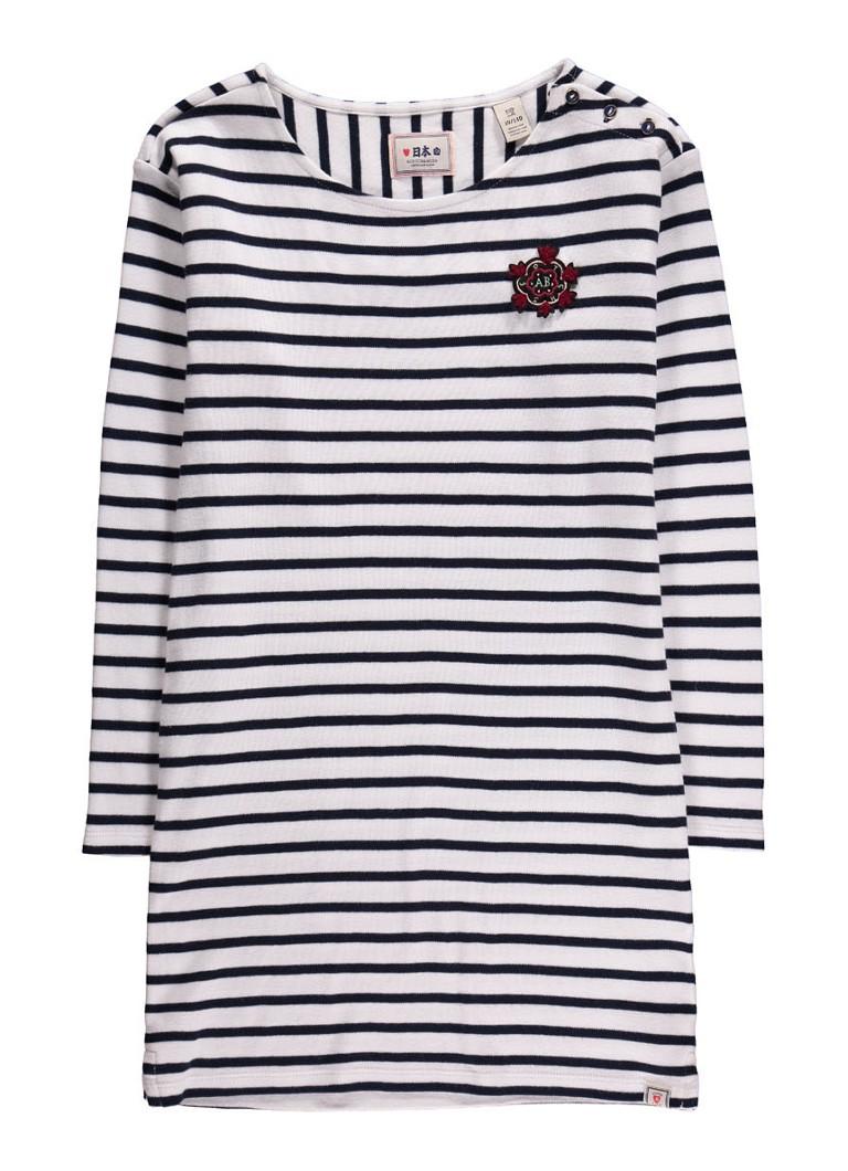 Scotch R'Belle Sweaterjurk met streepdessin en merkembleem
