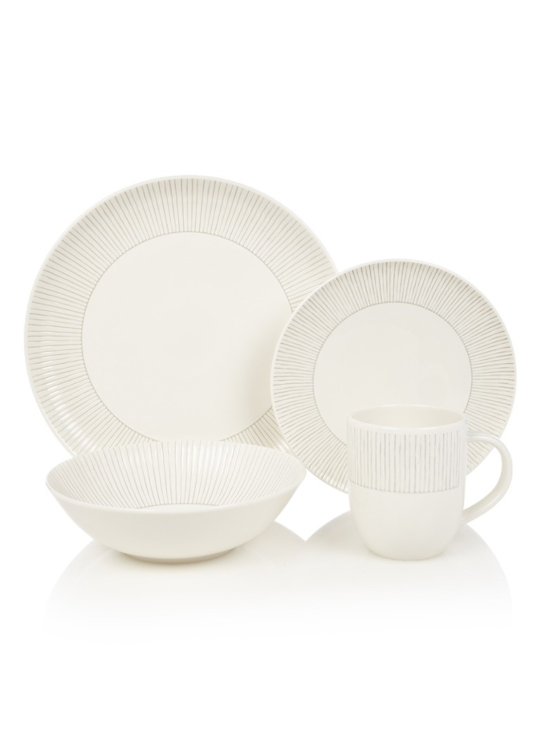 Royal Doulton Taupe Stripe serviesset 16-delig
