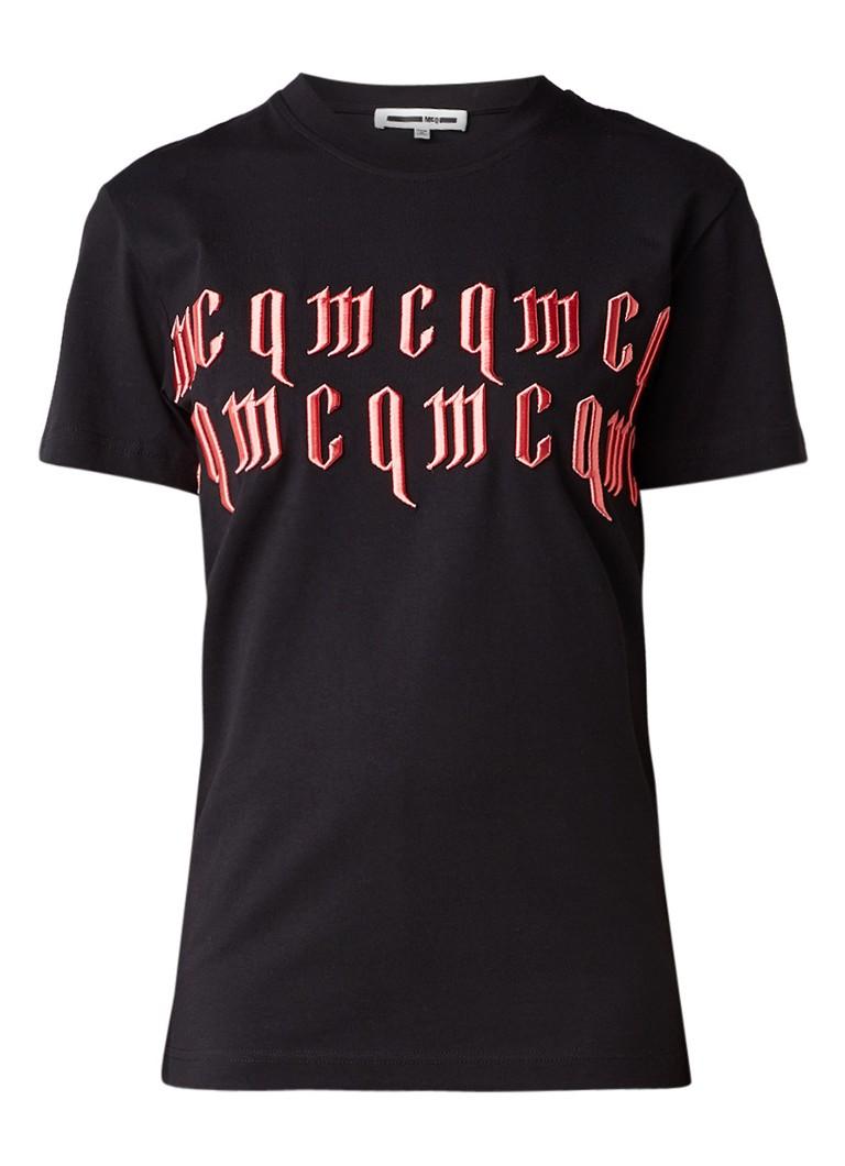 McQ Alexander McQueen T-shirt met merkborduring