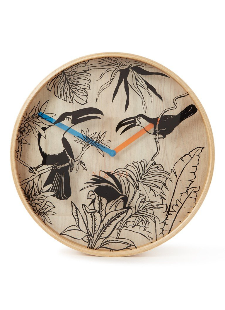 NeXtime Tropical Birds wandklok 40 cm