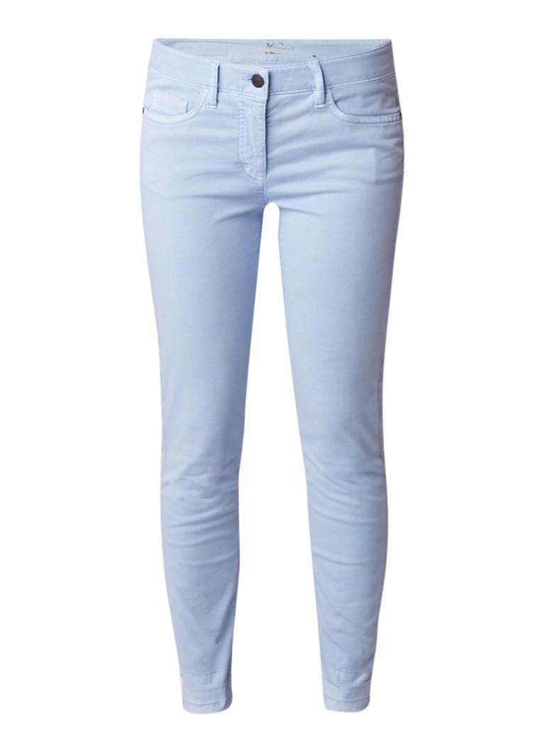 Luisa Cerano High rise slim fit jeans met destroyed detail