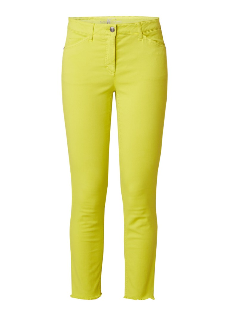 Luisa Cerano Mid rise cropped skinny jeans met gerafelde zoom