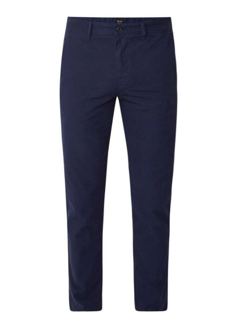 HUGO BOSS Schino tapered fit chino met steekzakken