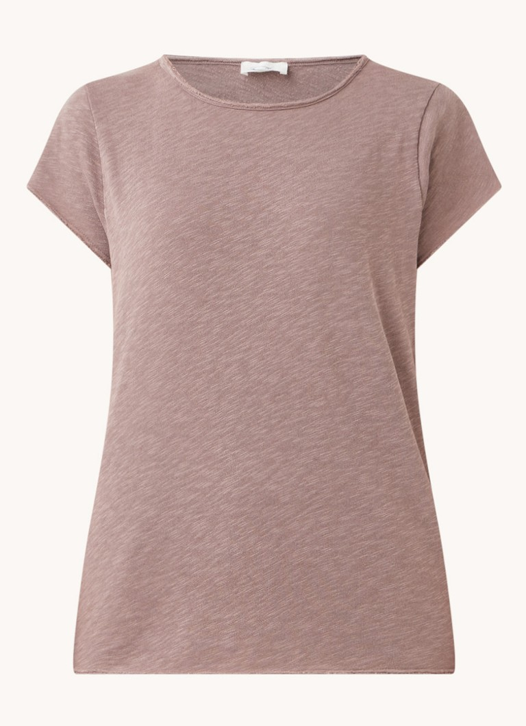Basic T shirt van katoen