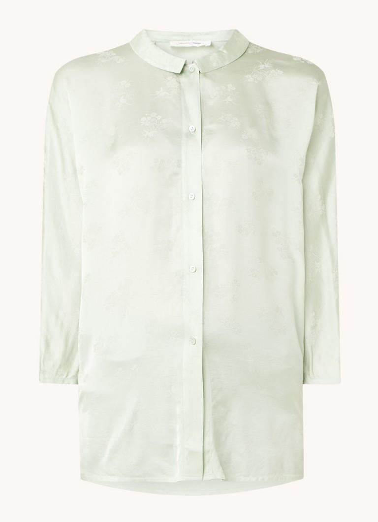 Gita blouse van satijn met bloemenprint
