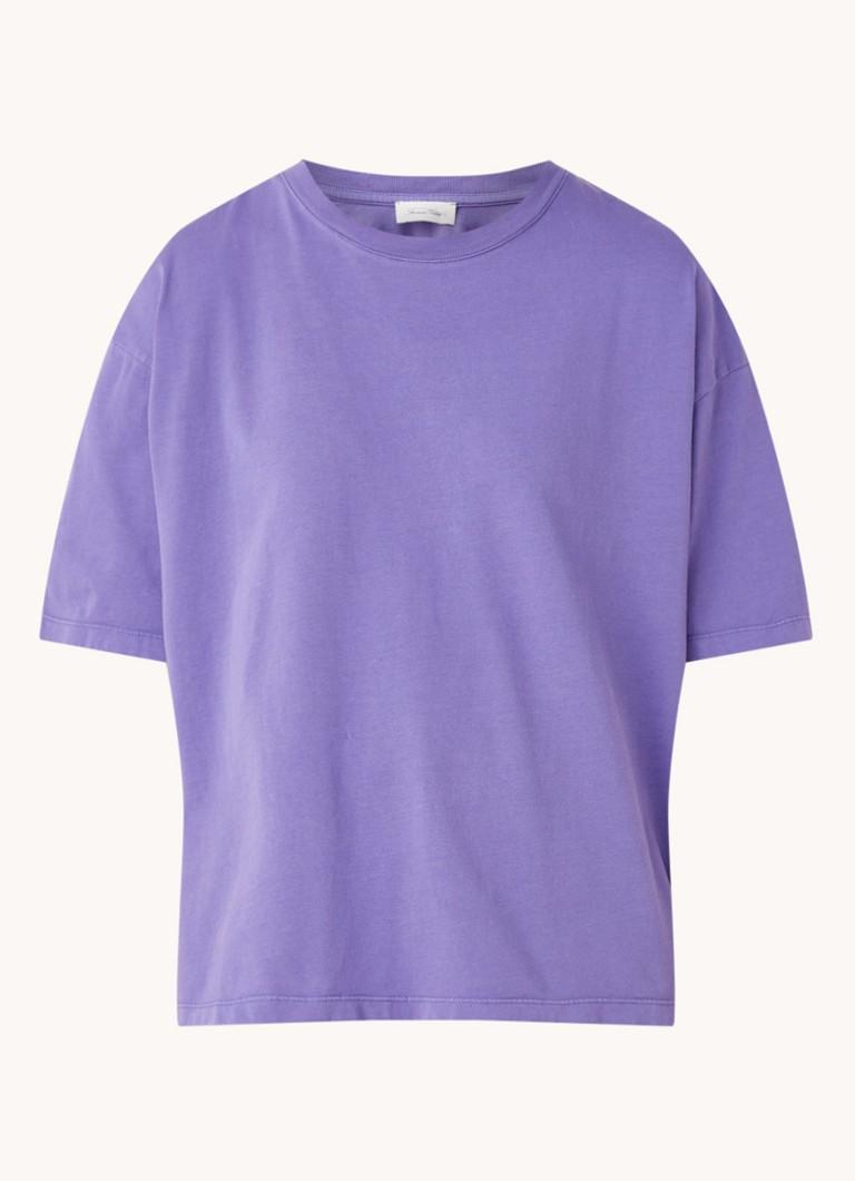 Fizvalley oversized T shirt met ronde hals