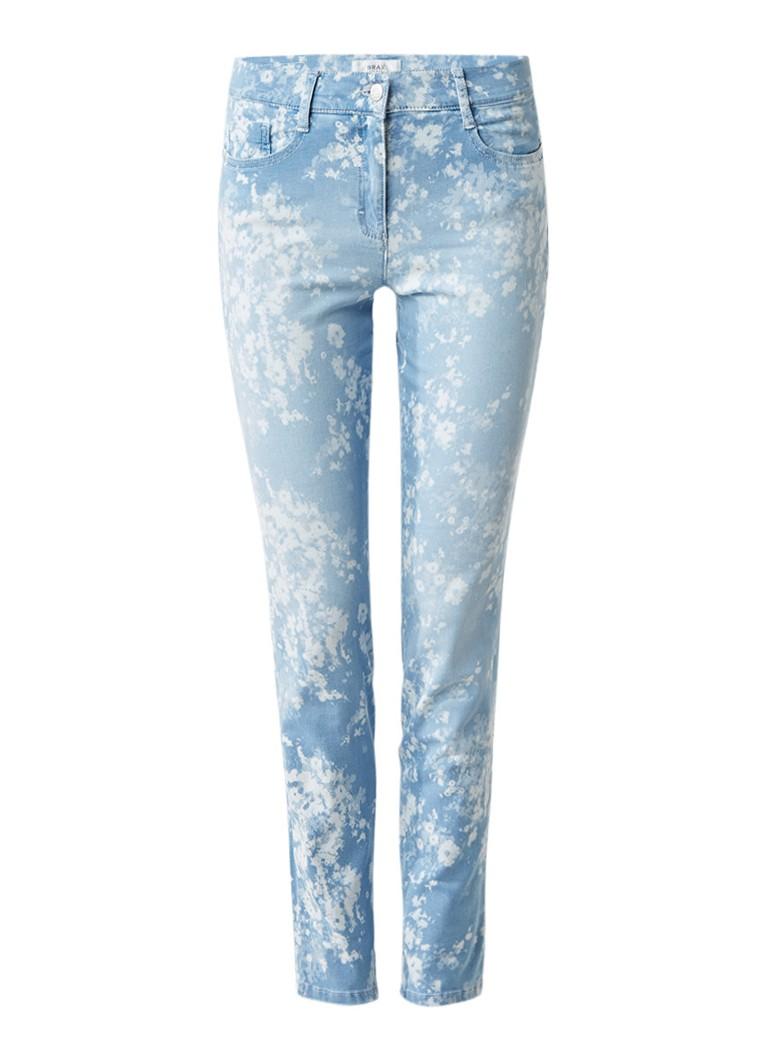 Brax Shakira high rise skinny jeans met gebleekt dessin
