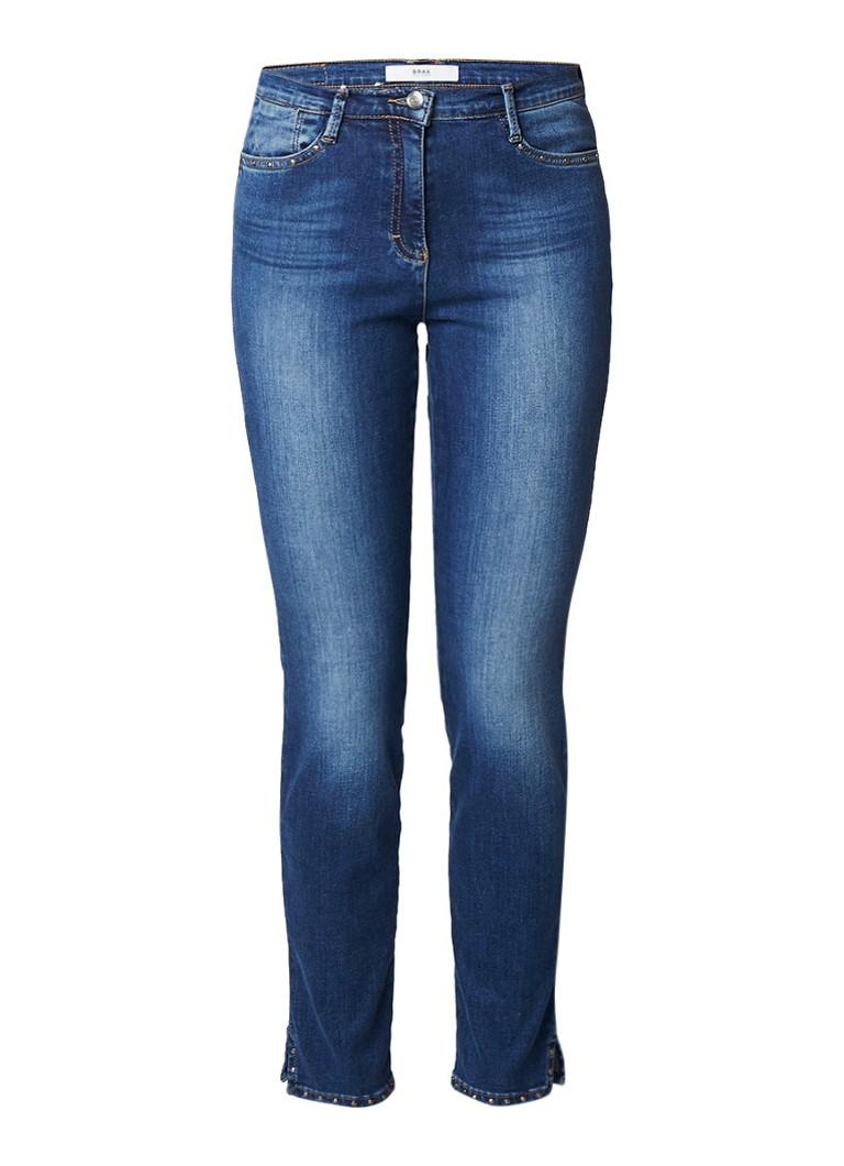 Brax Shakira high rise slim fit jeans met studs