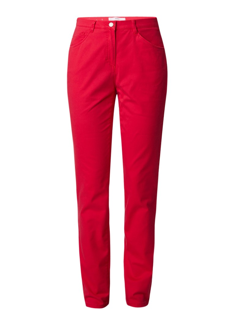 Brax High rise straight fit jeans met stretch