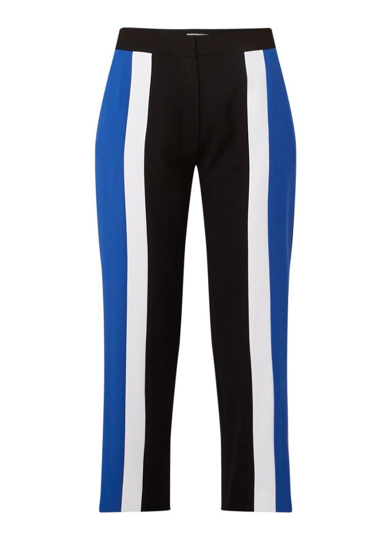 KENZO Cropped high rise slim fit pantalon met colour blocking