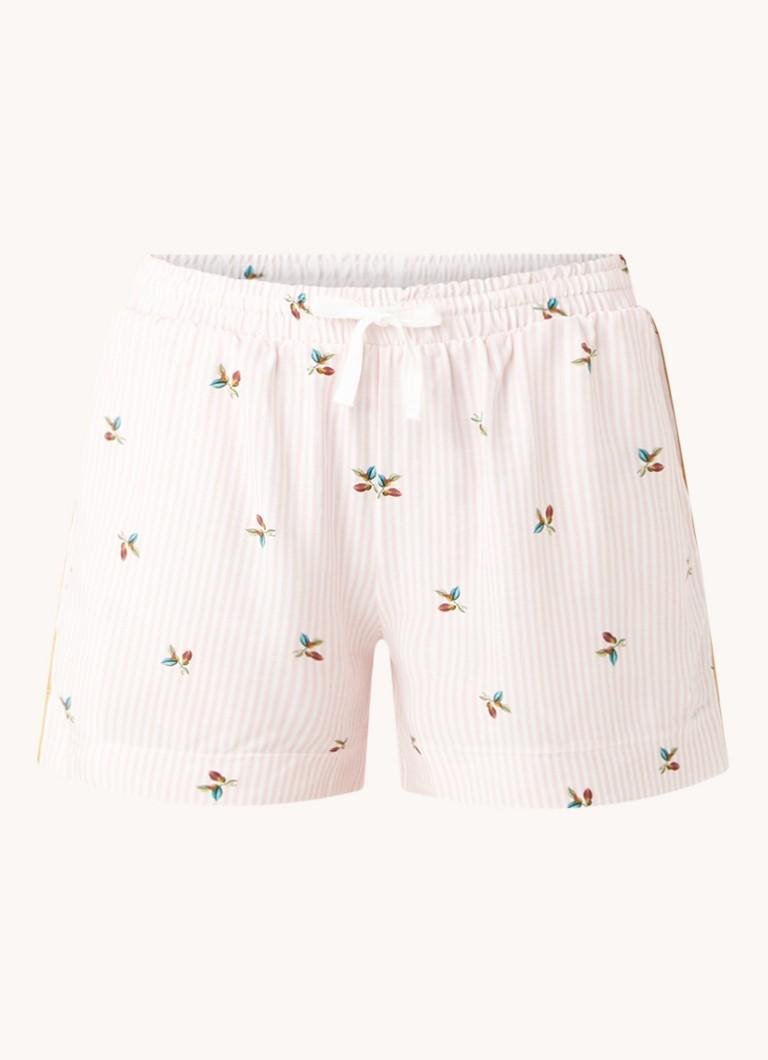 Chérie pyjamashorts met print