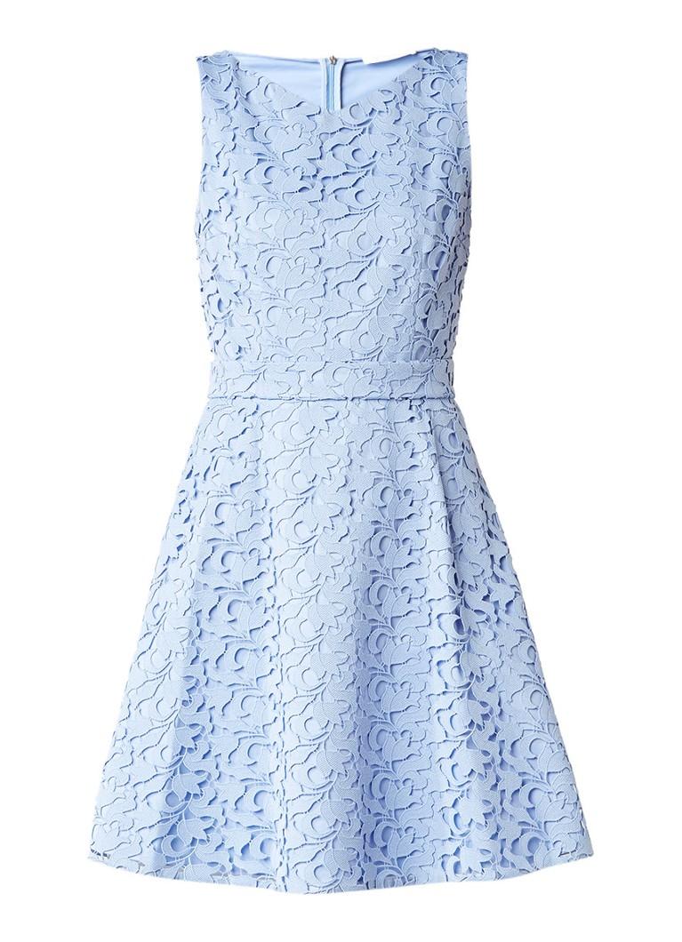 HUGO BOSS Dyferana A-lijn jurk van kant met tailleceintuur