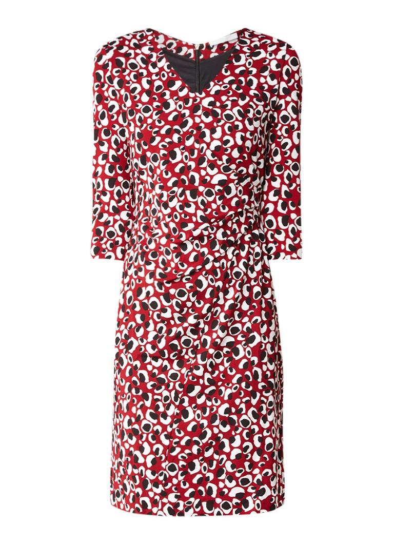 Hugo Boss Epona jurk van crêpe met draperie bordeauxrood
