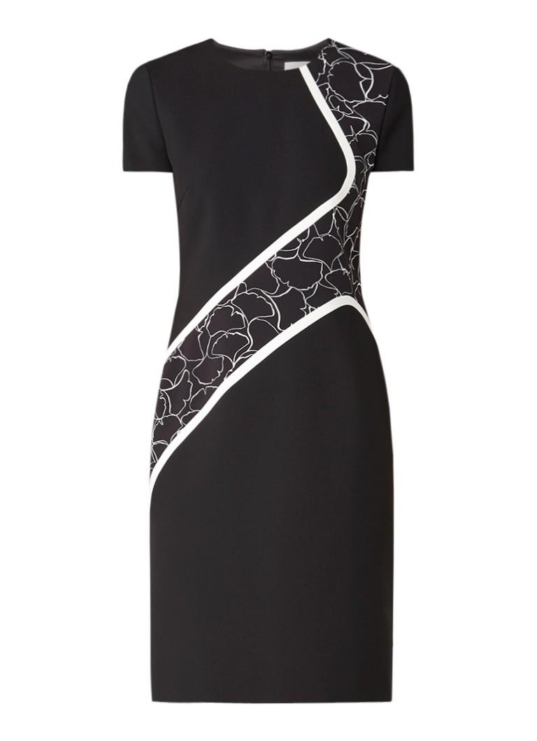 Hugo Boss Dukatia jurk met grafische details zwart