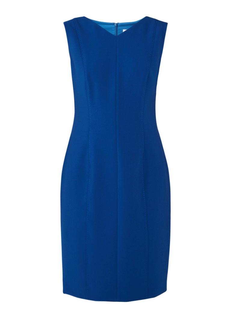 Hugo Boss Delafea midi-jurk met deelnaad royalblauw