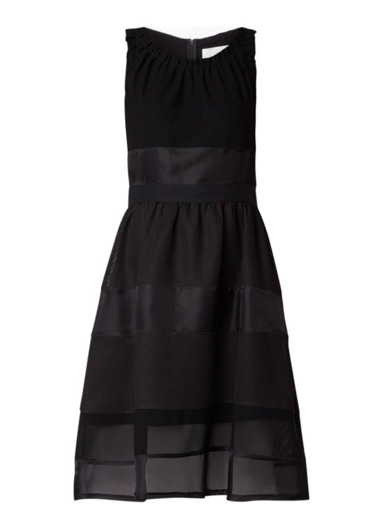 Hugo Boss Dineta A-lijn jurk met mesh zwart