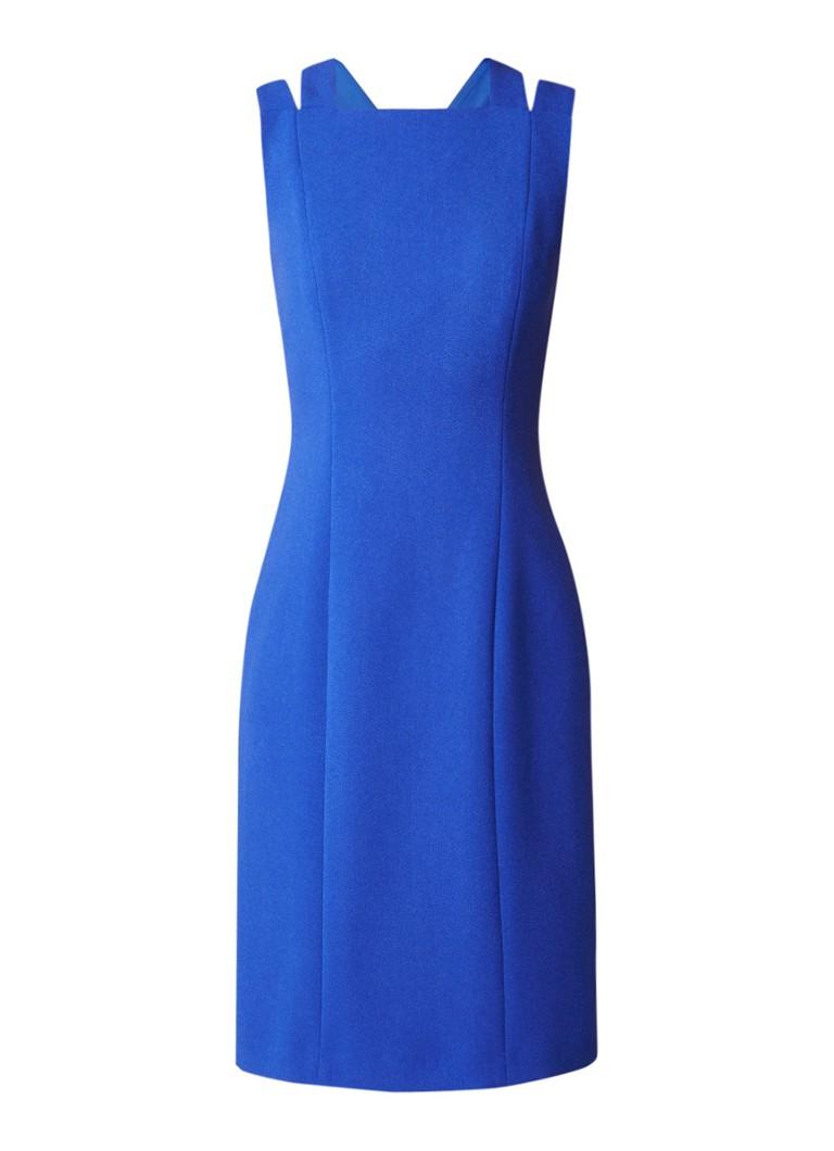 Hugo Boss Daphima jurk van crêpe met deelnaden blauw
