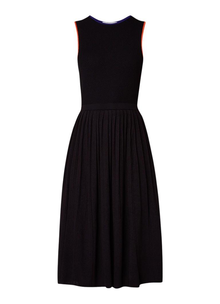 Hugo Boss Floli midi-jurk met plissé zwart