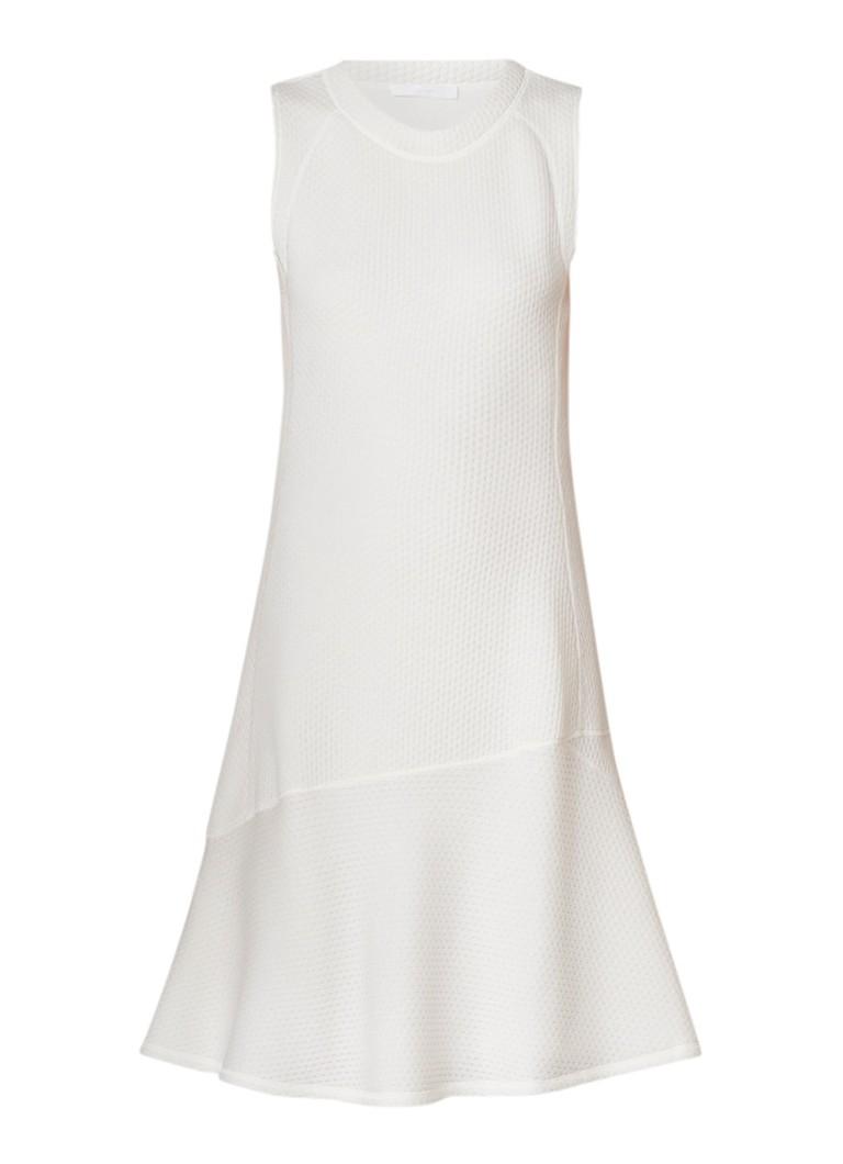 Hugo Boss Esaka A-lijn jurk met structuur gebroken wit