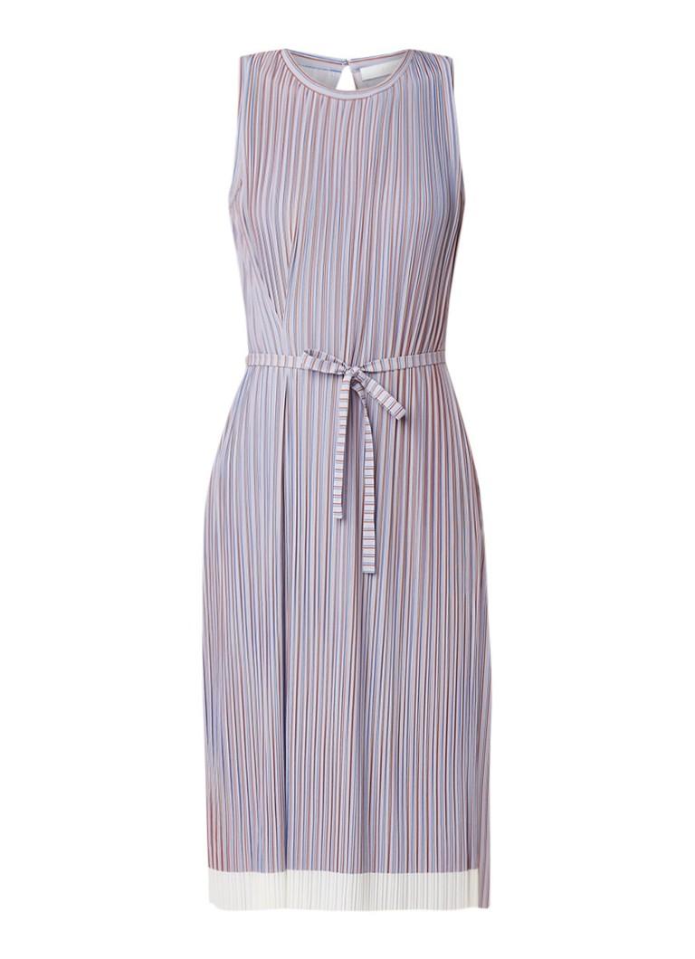 Hugo Boss Enadira midi-jurk met plissé en overlay lila
