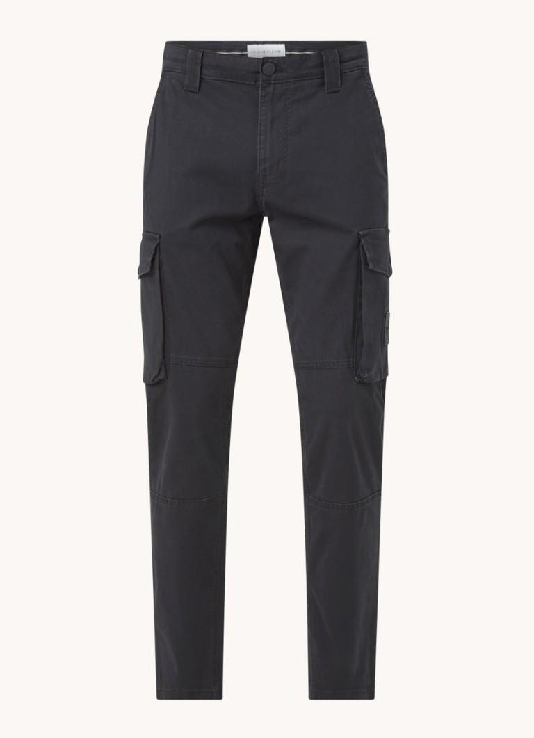 Calvin Klein Skinny fit cargobroek met steekzakken