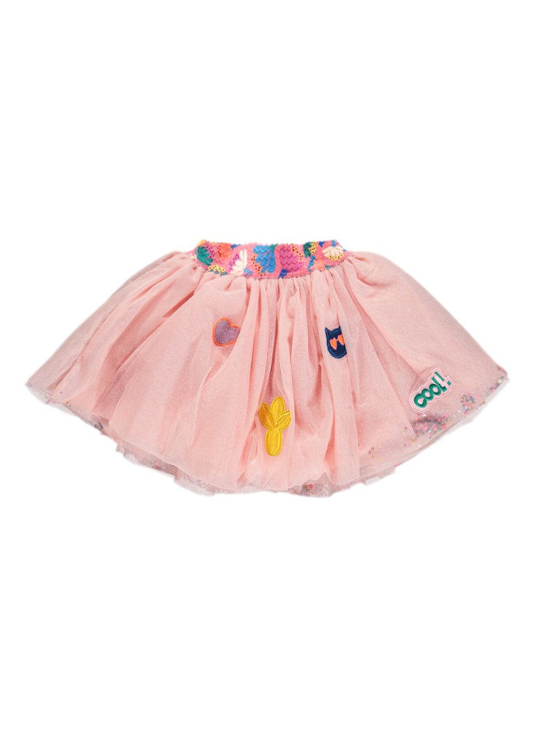 Billieblush Rok van tule met pailletten en applicatie