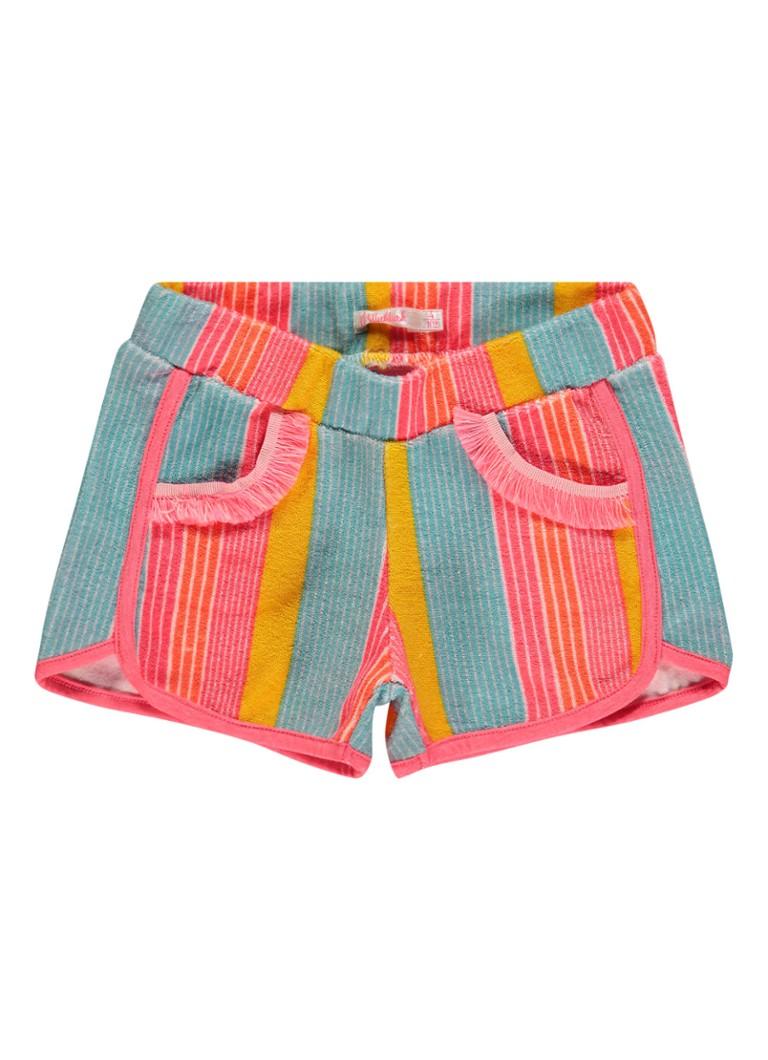 Image of Billieblush Shorts van badstof met streepdessin