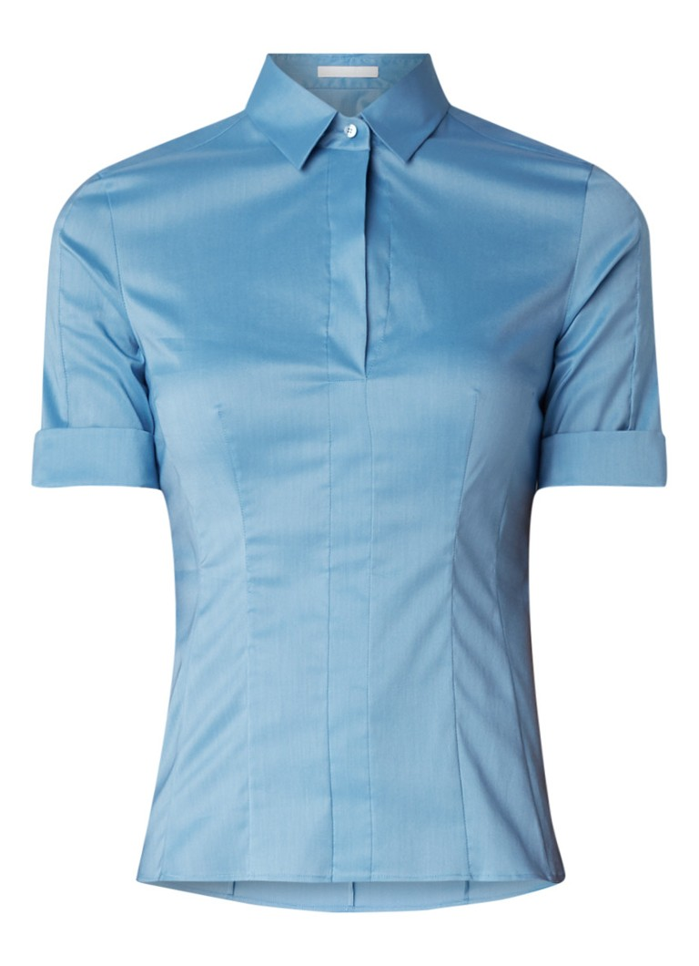 HUGO BOSS Bashini blouse in katoenblend