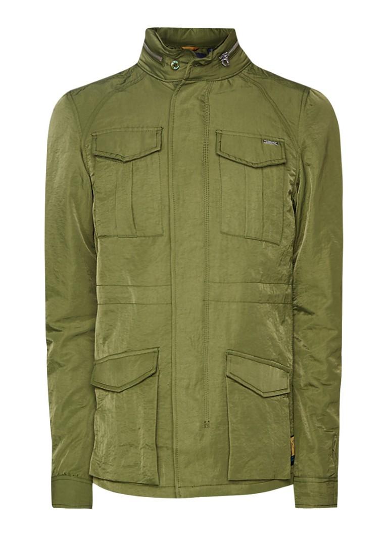 Scotch and Soda Field jacket met verborgen capuchon