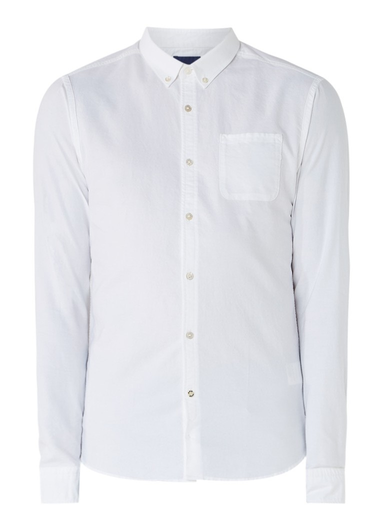 Scotch and Soda Slim fit Oxford button down-overhemd