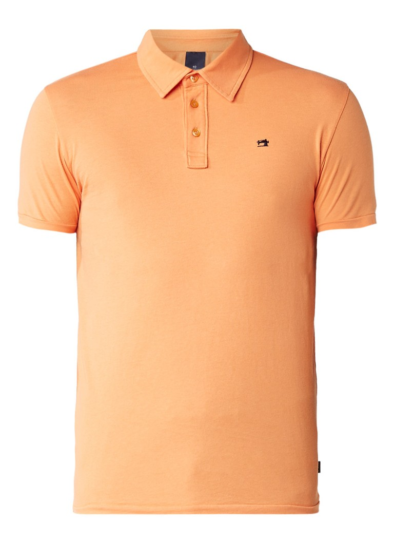 Scotch and Soda Jersey slim fit polo van katoen