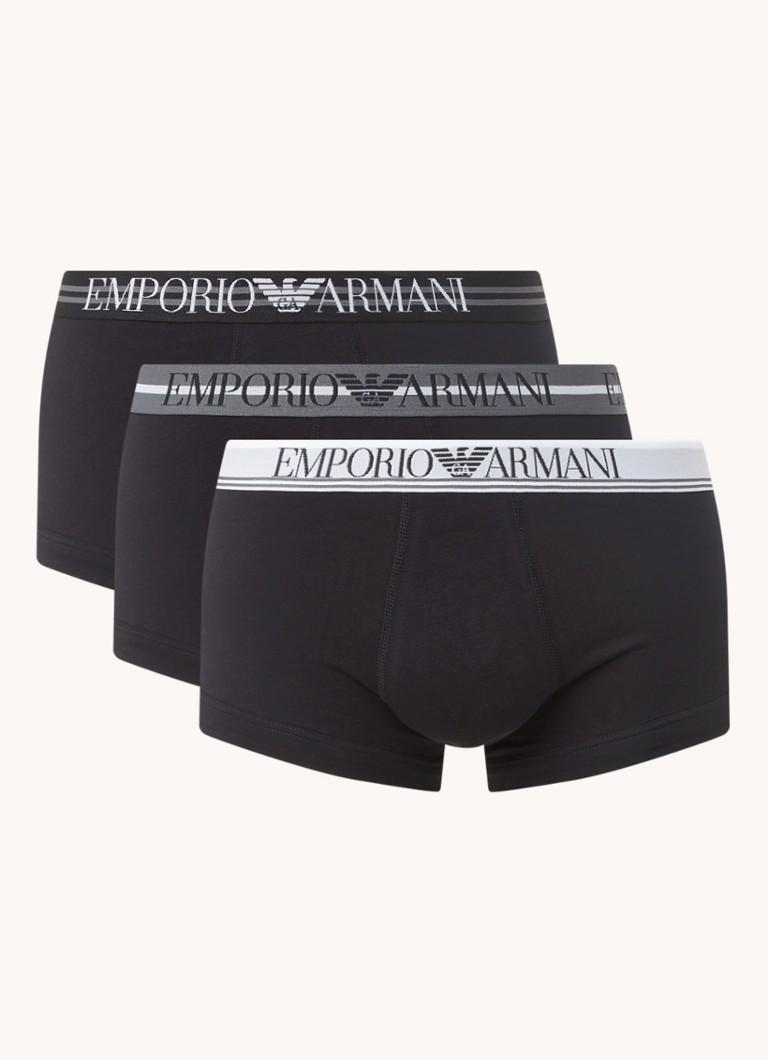 Emporio Armani Boxershorts met logoband in -pack