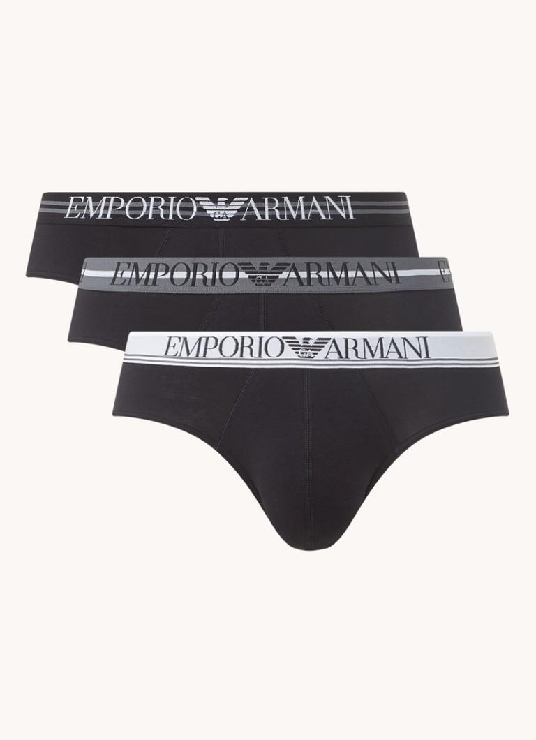 Emporio Armani Boxerslips met logoband in -pack