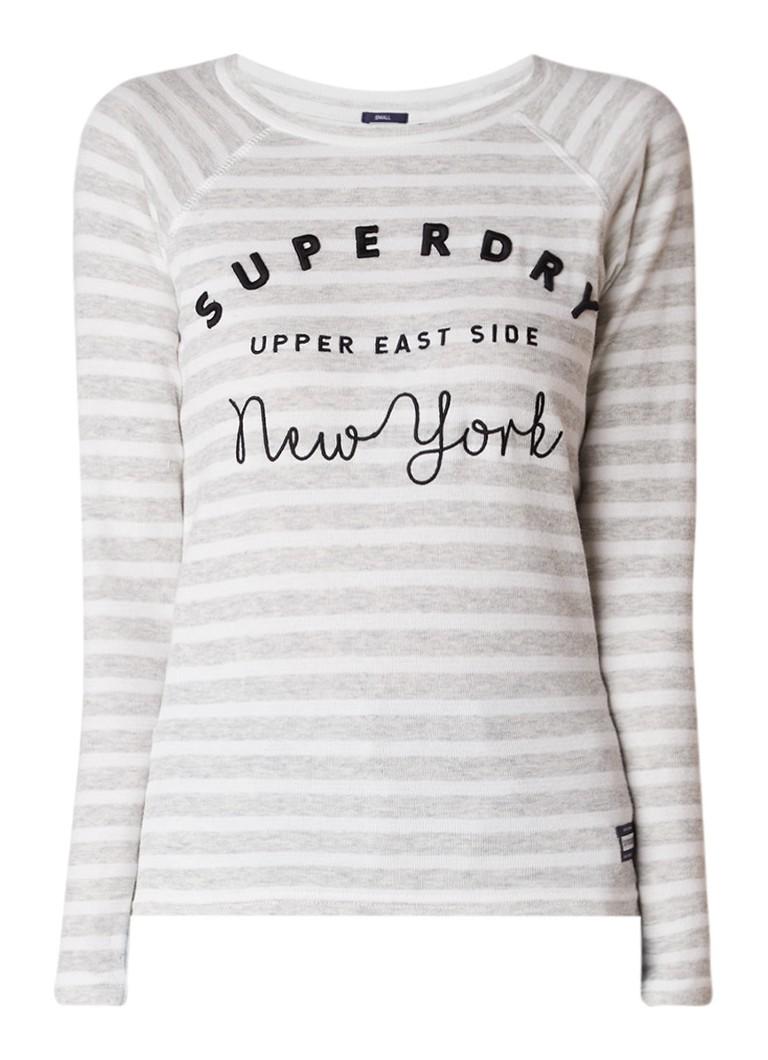 Superdry Manhattan pullover met streepdessin en logoborduring