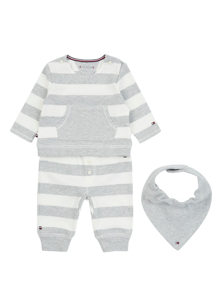 Tommy Hilfiger 3-delig babypak met streepdessin in giftbox