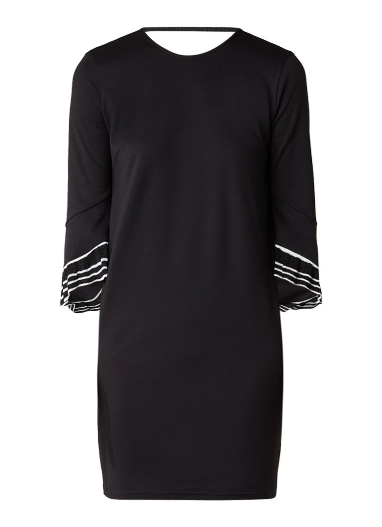 MO&Co. Jerseyjurk met ruchemouw zwart