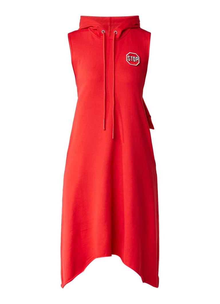 MO&Co. Sweaterjurk met open achterpand rood