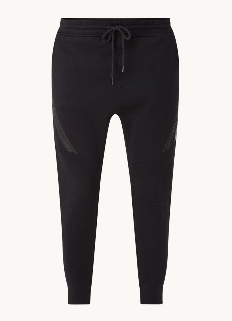 C-P- Company Tapered fit cropped joggingbroek met ritsdetail