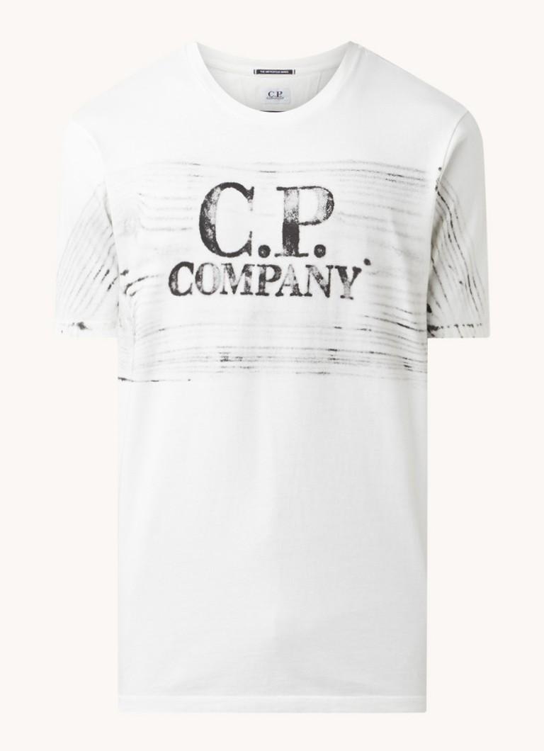 C-P- Company T-shirt met front- en backprint