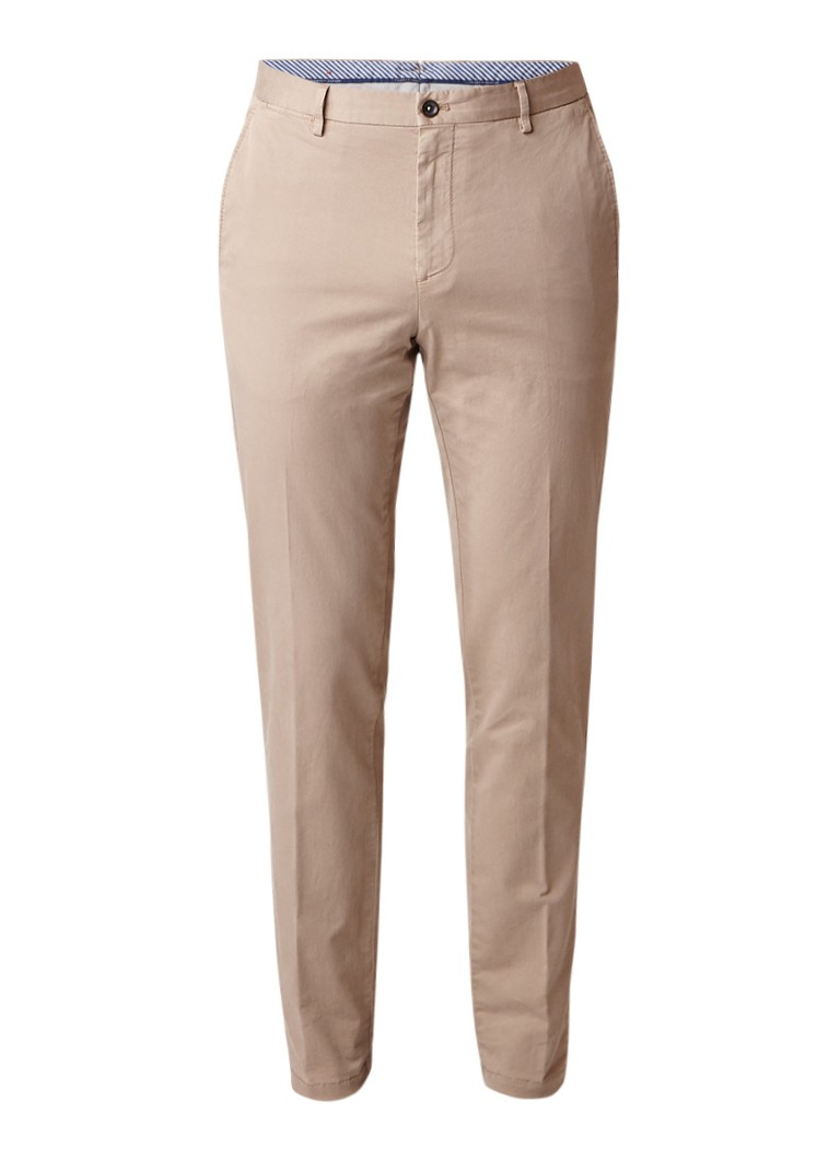 Tommy Hilfiger High rise slim fit chino met stretch