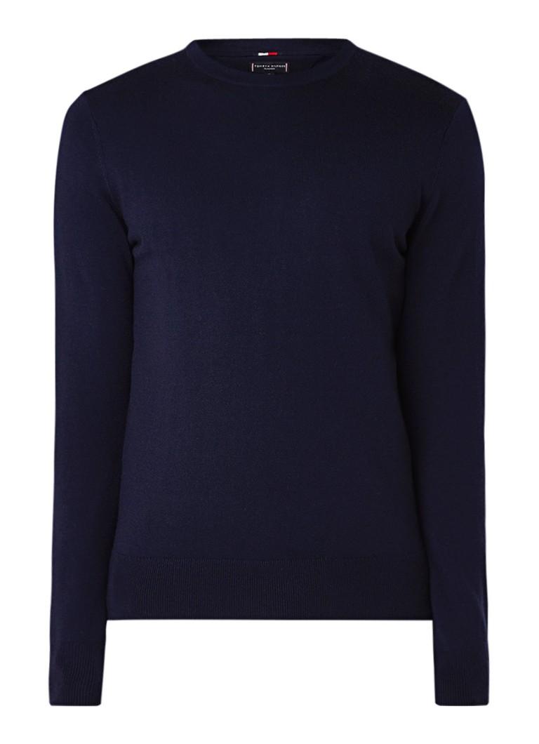 Image of Tommy Hilfiger Fijngebreide pullover van wol