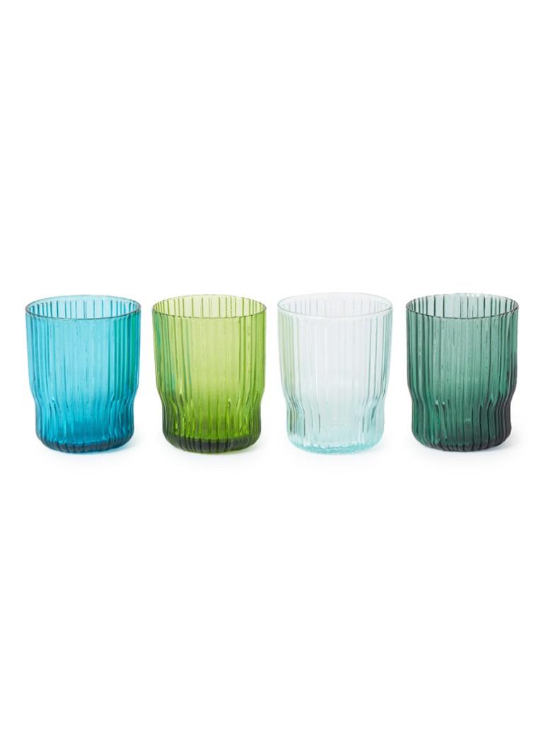 &Klevering Riffle glas 25 cl set van 4 kopen