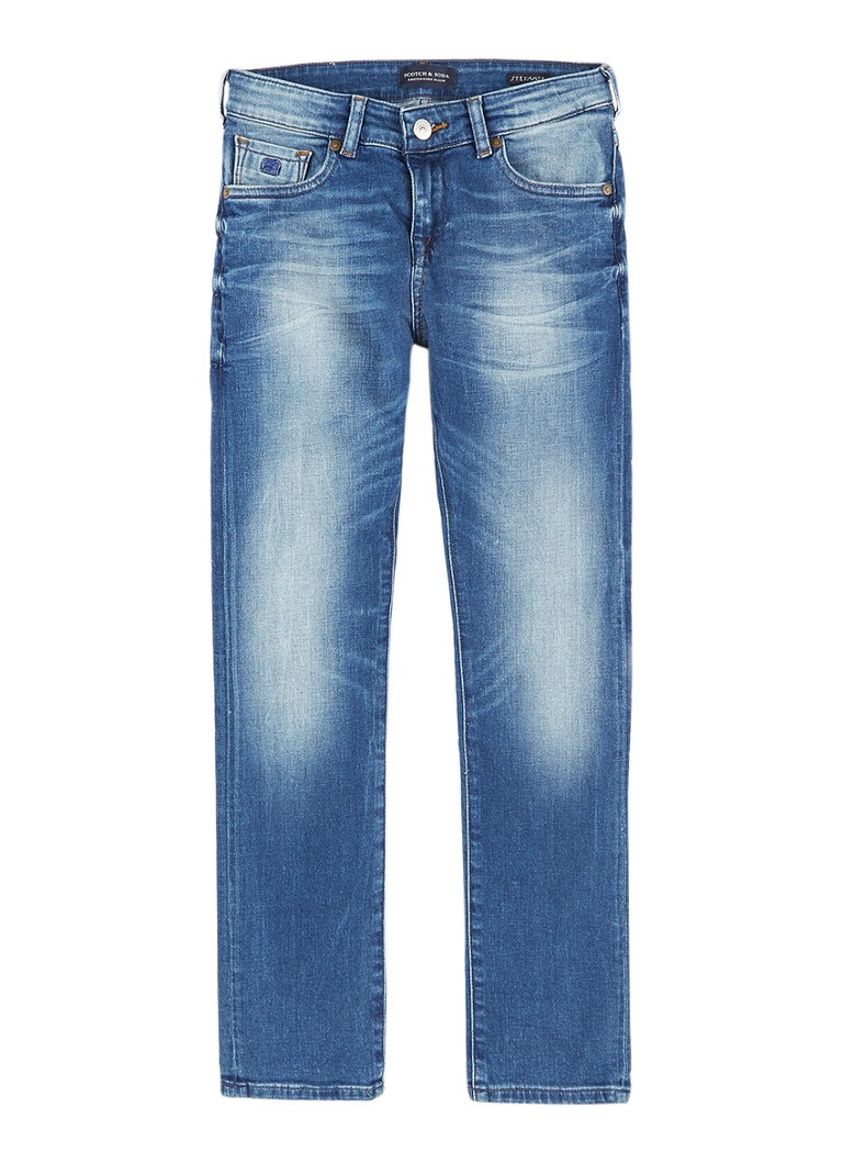 Scotch Shrunk Strummer skinny fit jeans met medium wassing