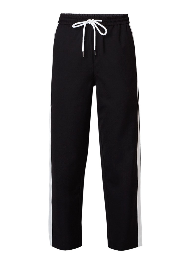 MO&Co. Cropped track pants met contrastbies