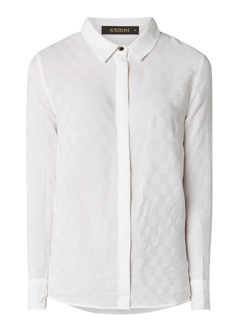 SuperTrash Biva blouse met ingeweven ruitpatroon